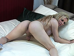 American Blonde Yanking Her Big Dick