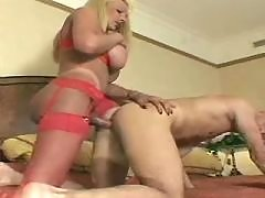 Shemale fucks guy and gets cumload